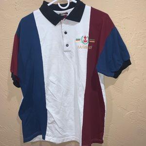 Vintage 90s Bahamas Color Block Polo
